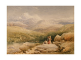 In the Welsh Hills Giclee Print by David Cox