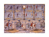 Fencing, from 'Academie De L'Espée' by Girard Thibault, Published 1628 Giclee Print