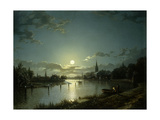 Marlow on Thames Giclee Print by Henry Pether