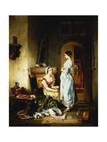 Preparing the Meal Giclee Print by David Emil Joseph de Noter
