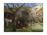 Caedmon's Awakening Giclee Print by Arthur Hughes
