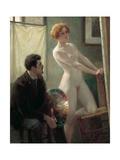 Painter's Atelier, 1885 Giclee Print by Edouard-Joseph Dantan