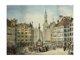 The Schrannenplatz, Munich, 1835 Giclee Print by Simon Quaglio
