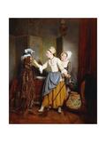 Dressing of a Mannequin; La Toilette De Mannequin, 1835 Giclee Print by Jean Alphonse Roehn