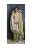 A Nude with a Green Cloak, 1899 Giclee Print by Pierre Carrier-belleuse