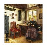 A Good Book, 1899 Giclee Print by Anne Marie Hansen
