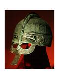 Helmet from a Vendel Boat Grave Giclée-tryk
