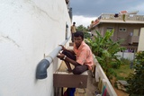 Watershed Management Students on Practical Training Module Installing Rooftop Rainwater… Photographic Print