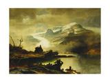 The Bondhus Glacier in Sunnhordland, 1878 Giclee Print by Erik Bodom