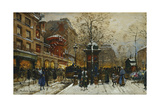 The Moulin Rouge, Paris Giclee Print by Eugene Galien-Laloue