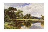 A Wooded River Landscape with Cattle Giclee Print by Henry Parker