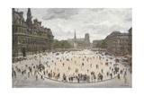 Le Place De Hotel D'Ville, Paris Giclee Print by Jean-louis Lefort