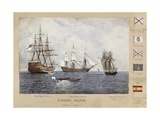 English, French and Spanish Ships, Cadiz Giclee Print by Rafael Monleon Y Torres