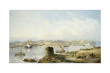 An Extensive View of Lisbon on the River Tejo with the Praca Do Terreiro Do Paco, the Old… Giclee Print by John or Giovanni Schranz