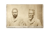 Two Zulu Men, London, C.1882 Giclee Print by  Elliott and Fry Studio