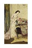 Flower Arranging Giclee Print by Alfred Emile Stevens
