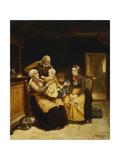 The Visit to the Grandparents; Besoget Hos Bedsteforaeldrene, 1859 Giclee Print by Adolphe Tidemand