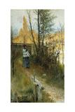 Autumn (Karin I Grez (Hostmotiv)), 1884 Giclee Print by Carl Larsson