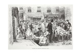 Marche Aux Chiffons (Petticoat Lane), Illustration from 'La Rue a Londres', Pub. by G.… Giclee Print by Auguste Andre Lancon