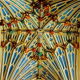 Lierne Vaulting and Ceiling Bosses, Bishop Langton Chapel Photographic Print