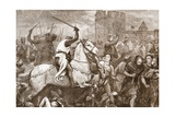 An Early Papal Crusade Against the Waldenses, Illustration from 'The History of Protestantism' by… Giclee Print