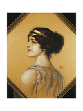 Portrait of the Artist's Daughter, Mary Giclee Print by Franz Von Stuck