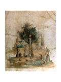 A Fresco from the Villa of Agrippa Postumus at Boscotrecase, Pompeii Giclee Print