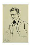 Portrait of the Composer Jean Sibelius, Small Half-Length Giclee Print by Albert Edelfelt