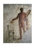 A Fresco Showing Hercules and a Worshipper from a Tomb from the Isola Sacra Cemetery Near Ostia Giclee Print