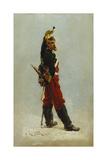 Un Dragon, 1875 Giclee Print by Alphonse Marie de Neuville