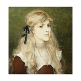 Portrait of Esme Robb, C.1890 Giclee Print by George Henry Boughton