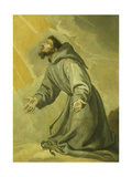 Saint Francis Receiving the Stigmata Giclee Print by Vicente Carducci