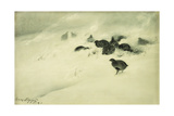 Grouse in a Snow Storm, 1890 Giclee Print by Bruno Andreas Liljefors