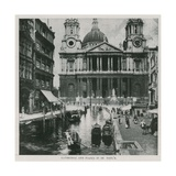Cathedral and Piazza Di St Paul's Giclee Print
