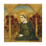 The Virgin Mary in the Rosegarden; Jungfru Maria I Rosengard Giclee Print by Albert Gustaf Aristides Edelfelt