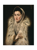 Lady in a Fur Wrap, C.1577 Giclee Print by  El Greco