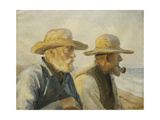 The Old Fishermen Giclee Print by Michael Peter Ancher