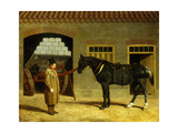 A Cart Horse and Driver Outside a Stable, 1827 Giclee Print by John Frederick Herring Snr