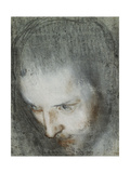 Head of Saint Francis Looking Upwards to the Left Giclee Print by Federico Fiori Barocci or Baroccio