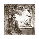 Luther by Coburg Castle: the Diet of Jackdaws, Illustration from 'The History of Protestantism'… Giclee Print