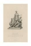 Statue Depicting Engineering Which Adorns the Albert Memorial Giclee Print