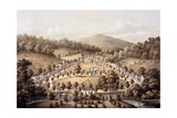 White Sulphur Springs, Montgomery County, from 'Album of Virginia', 1858 Giclee Print by Edward Beyer