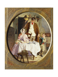 Family Accounts Giclee Print by George Elgar Hicks