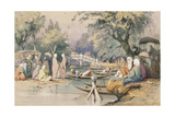 Turks at the Temple of Sweet Waters, Constantinople Giclee Print by Amadeo Preziosi