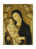 The Madonna and Child, with Saints Anthony Abbott and Bernadino of Siena, Surrounded by Angels Giclee Print by Sano Di, Also Ansano Di Pietro Di Mencio Pietro