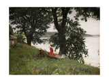 On the Bank, 1889 Giclee Print by Peter Vilhelm Ilsted