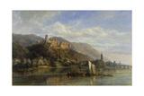 Heidelberg, 1866 Giclee-trykk av Pierre Justin Ouvrie