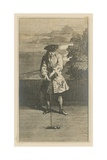 Illustration Depicting a Man Playing Croquet Giclee Print