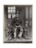 William Amazizi, Lo-Ben's War Doctor with Nganga and Schlepu, 1890s Giclee Print
