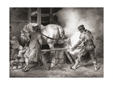 The Farrier, from Etudes De Cheveaux, 1822 Giclee Print by Théodore Géricault